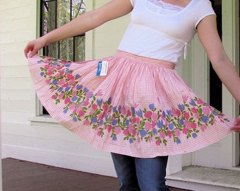 Vintage Apron Old Stock Ever Pleat Pink