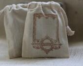 muslin favor bags FramEd LoVe x10, muslin wedding favor bags, gift bags for goodies, party favor bags, reception favor