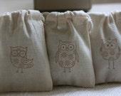 musin gift bags GroOvY OwLsx 24 favor bags, party favor, soap bag, candy bag, muslin wedding favor bag
