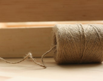 ReSerVed for Jen JuTe TwiNe roll, x6 300 ft, PRIORITY wedding supplies, scrapbooking twine, hang tag twine, rustic packaging
