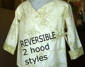 Childrens Hoodie Jacket kimono Reversible pdf Instant Download SEWING PATTERN ebook tutorial coat