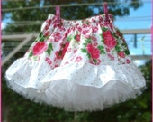 Instant Download Girls skirt sewing pattern and separate petticoat pdf pattern ebook tutorial