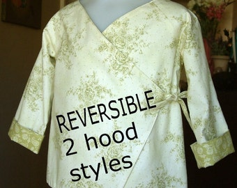 Childrens Hoodie Jacket kimono Reversible pdf Instant Download SEWING PATTERN ebook tutorial coat
