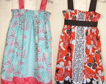 Girls dress top summer dress Instant download sewing pattern ebook pdf tutorial