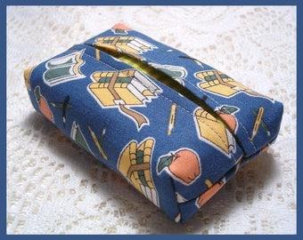 Purse Size Travel Tissue Holder Handmade with School Days Fabric