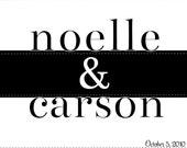 Me & You Customizable Personalizable Art Print (8.5 x 11)