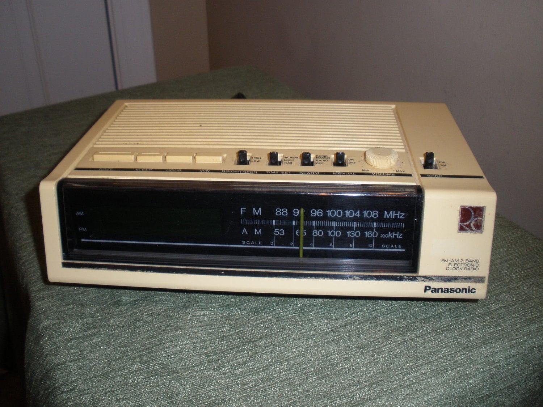 vintage panasonic rc 6050 fm am digital alarm clock radio. Black Bedroom Furniture Sets. Home Design Ideas