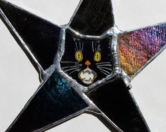 Scaredy Cat Star - Halloween Ornament