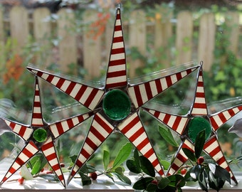 3 Christmas Peppermint Stars