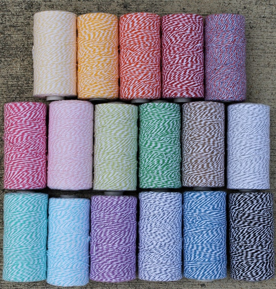 Bakers Twine- 240 yards-67 Colors-full spool