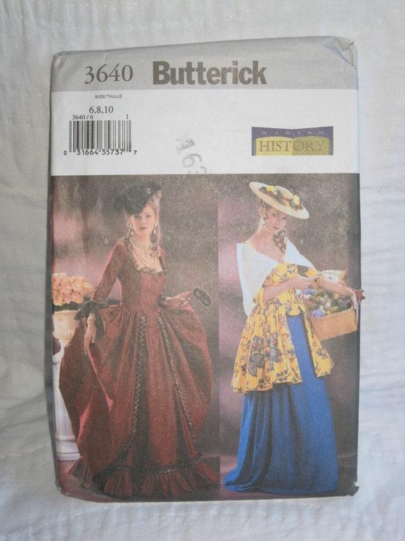 Butterick 3640 Historical Costume Pattern Uncut