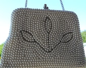 Pearl Evening Bridal Prom Purse Bag Made in Japan Vintage