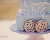 Custom Initial Wedding Wood Cake Topper