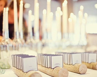 11 Escort Card Holders Made From a Fallen Tree