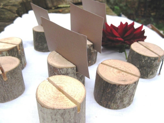 Reserved      20 round place card holders- from a fallen tree