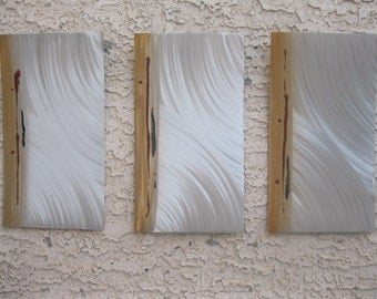 Metal Wall Art Silver Sculpture Home Decor by Holly Lentz Abstract Contemporary Metal Art