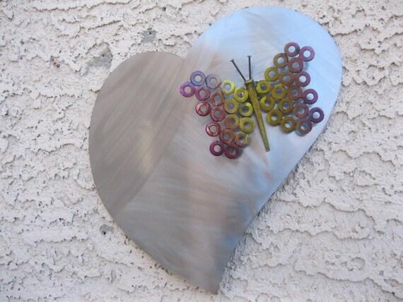 Abstract Butterfly Modern Metal Wall Art Sculpture by Holy Lentz