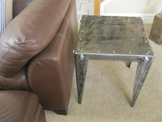 Metal Table art furniture sculpture by Holly Lentz Abstract Contemporary