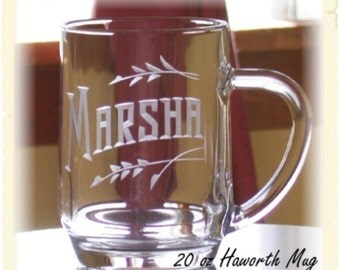 His and Hers Large Personalized 20oz Hot/Cold Haworth Mug