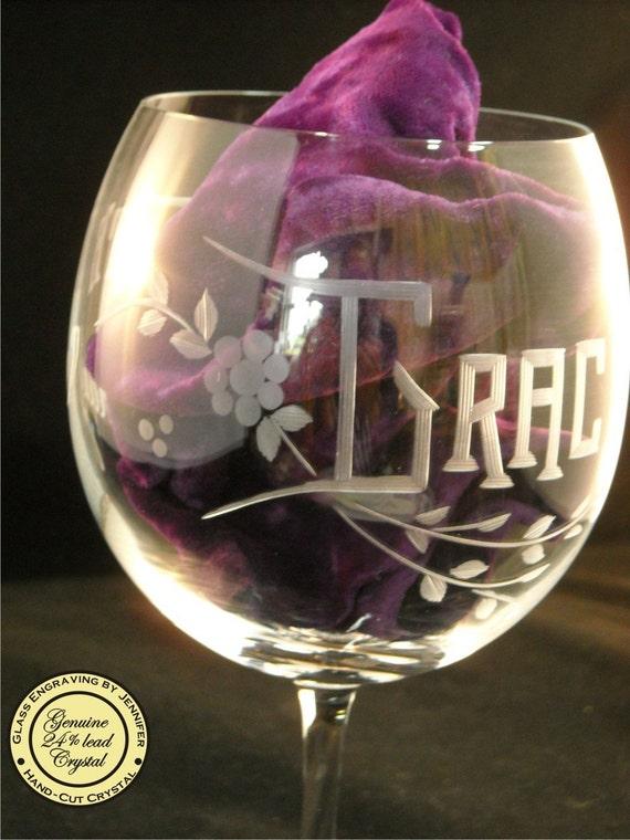 Personalized Crystal Happy Birthday Wine Glass