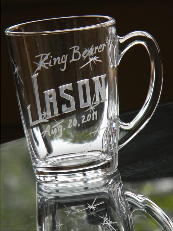 Ring Bearer Keepsake Mug with Custom Engraved Name and Date