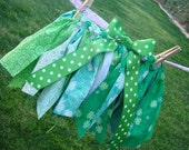 Girls Fabric Scrap Tutu for St. Patrick