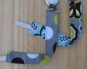 Pacifier Clip - Universal Clip for Baby Pacifier/Binky/Soothie Grey/Teal