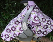 Baby Car Seat Canopy - Baby Car Seat Cover - Purple Canopy - White Canopy - Girls Car Seat Canopy - Baby Shower Gift - Baby Christmas Gift