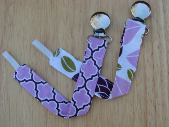 Pacifier Clip - Purple Universal Clip for Baby Girls Pacifier/Binky/Soothie