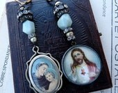 SALE:  Antique Religious Earrings, by RusticGypsyCreations
