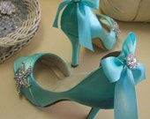 Wedding Shoe - Starfish Wedding Shoe - Bridal Shoe - Custom Wedding Shoe - Beach Wedding Shoe - Starfish Wedding - Blue Wedding Shoe - Heels
