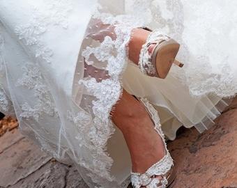 Try On For Service Wedding Shoes - Wedding Shoe Try On - White Shoe Service For Wedding Shoe - Bridal Shoes - Custom Wedding Shoe - Shoe