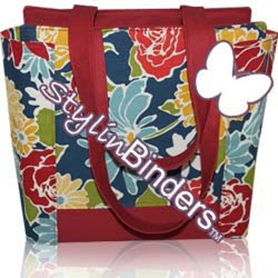 3 Inch Coupon Purse Binder Organizer, Primary Floral