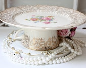 Cake plate dessert pedestal Small Cake Plate in Vintage American China