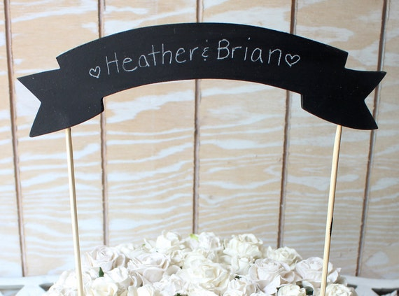 Today's special Chalkboard Cake Banner Cake Topper Two Sided