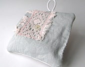 french country - blush pink and neutral grey sweet lavender sachet - ostat