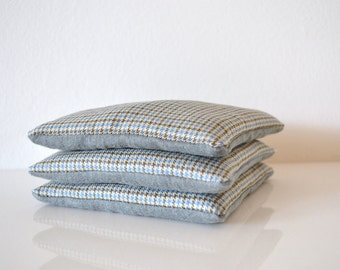 gift for him, blue grey lavender sachets - blue and taupe bedroom drawers sachets - lavender pillow - gift for him - stocking stuffer