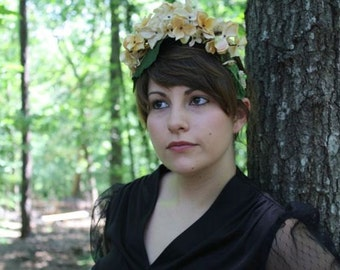 Philippa// Handmade Old Hollywood Vintage Style Floral Headband Luxe
