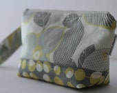 diaper and wipes clutch -- optic blossom