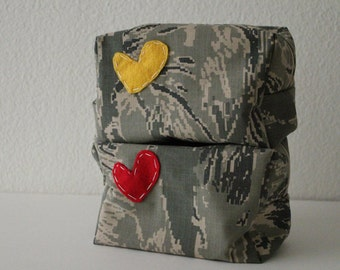 makeup / toiletry bag -- US Air Force - ABU Tiger Stripe Digital