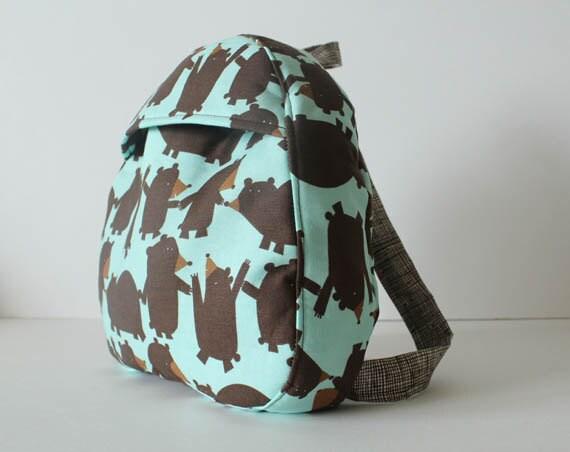 toddler backpack -- bears in line