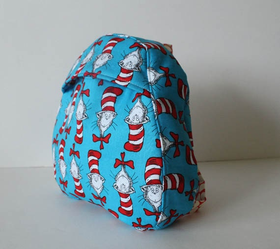SALE toddler backpack -- dr seuss cat in the hat