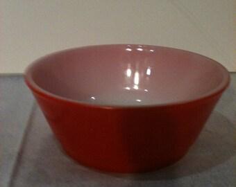 Anchor Hocking Orange Cereal Bowl