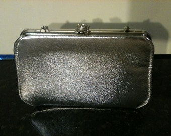 Vintage Silver Purse with Chain