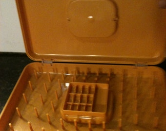 Vintage Solid Yellow Wii Hold Spool and Bobbin Holder