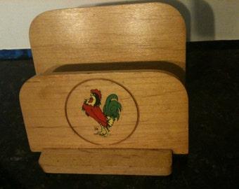 Vintage Wooden Napkin/Mail Holder