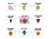 4x6 sheet of Little Miss scrabble tile images 2