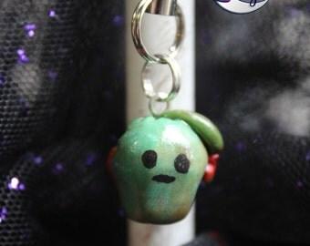 Zombie Apple Charm