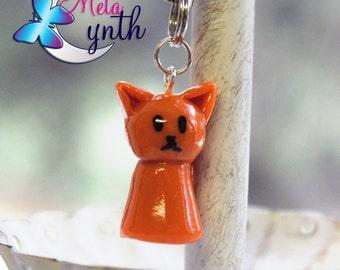 Orange Cat Charm