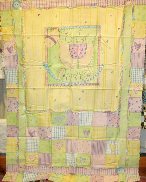 Baby Girl Baby Quilt Panel and Fabric Samples Baby Toys Print SSI Company Nursery